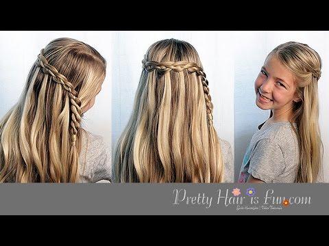 Waterfall Braids Pretty Hair Is Fun Girls Hairstyle Tutorials