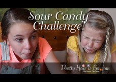 Pretty Hair is Fun: Silly Business with A & C: Sour Candy Challenge