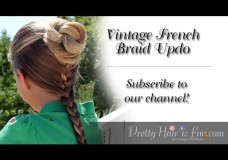 Pretty Hair is Fun: Vintage French Braid Updo