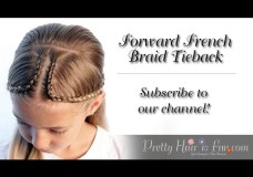 Pretty Hair is Fun: Forward French Braid Tieback Hairstyle