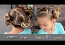 Pretty Hair is Fun: Twisty Tops Hair Buns