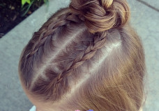 Pretty Hair is Fun: Dutch Braid Top Knot Bun