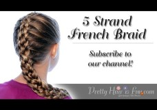 Pretty Hair is Fun: French 5 Five Strand Braid