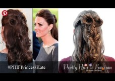 Pretty Hair is Fun: Princess Kate Inspired Half Up Hairstyle (and Lilla Rose Giveaway!)