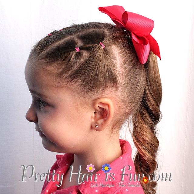 pretty hair is fun stair step ponytail � pretty hair is