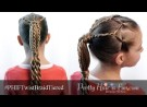Pretty Hair is Fun: Twist Braid Tiered Ponytail