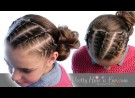 Pretty Hair is Fun: French Rope Twist Braids & Side Bun