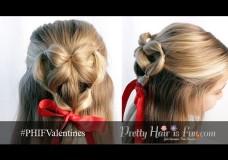 Pretty Hair is Fun: Elastic Braid Heart