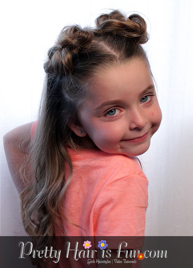 Pretty Hair Is Fun Toddler Hairstyles Double Top Knot Buns