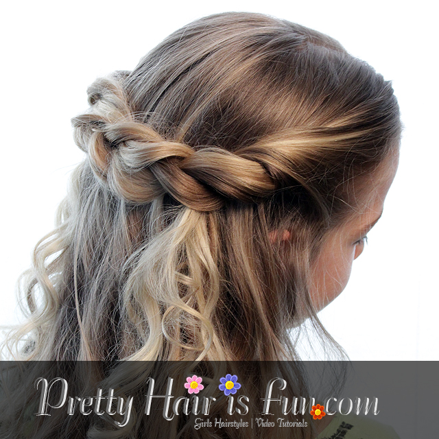 Pretty Hair is Fun: Easy Twisted Tieback: Half Up Hairstyles
