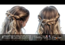 Pretty Hair is Fun: Easy Twisted Tieback
