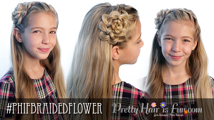Pretty Hair is Fun: How to do a Braided Flower Headband