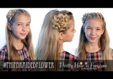 Pretty Hair is Fun: Braided Flower Headband