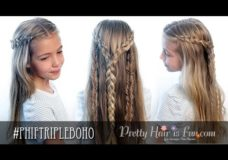 Pretty Hair is Fun: Triple Boho Braid
