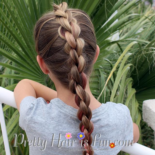 Pretty Hair Is Fun French Four Strand 3d Or Round Braid