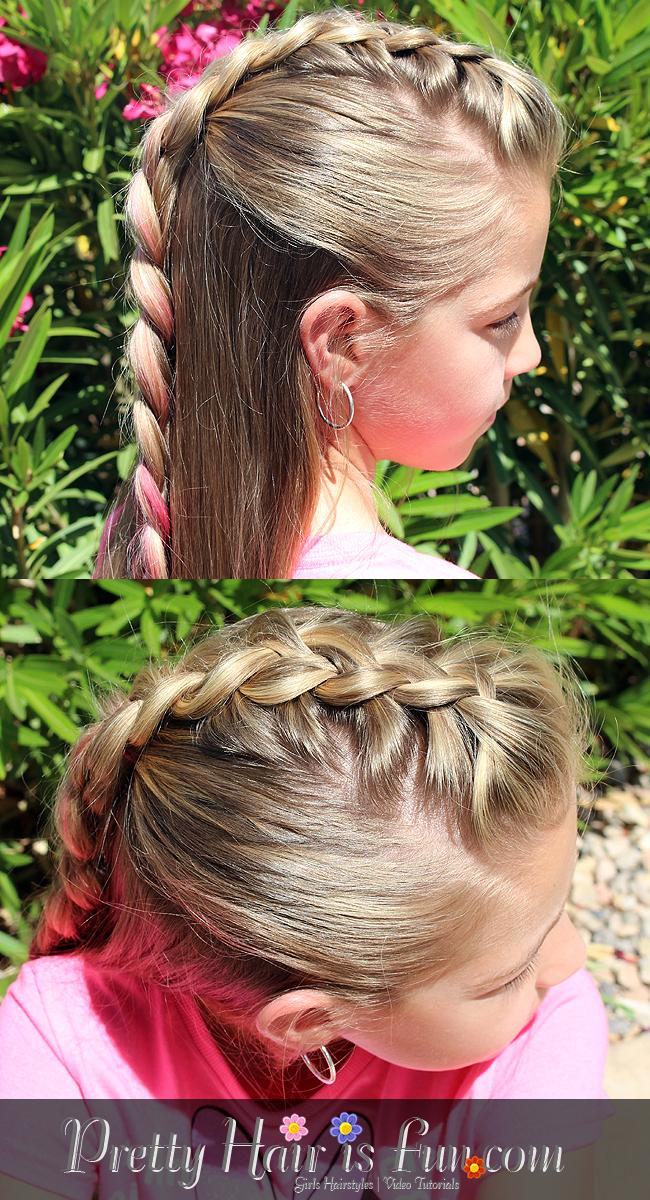pretty hair is fun half up mohawk braid hairstyle