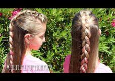 Pretty Hair is Fun: Half Up Mohawk Braid Hairstyle