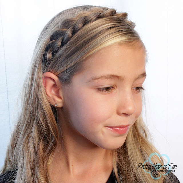 Pretty Hair is Fun: Braided Hair Headband