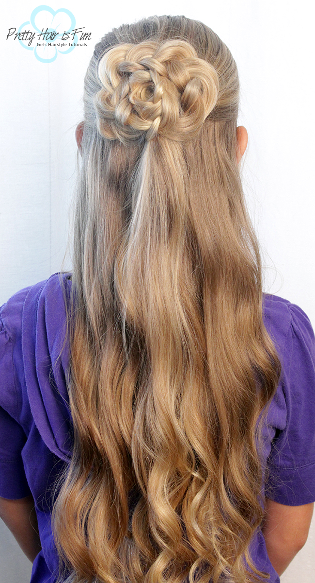 pretty hair is fun half up hair flower � pretty hair is