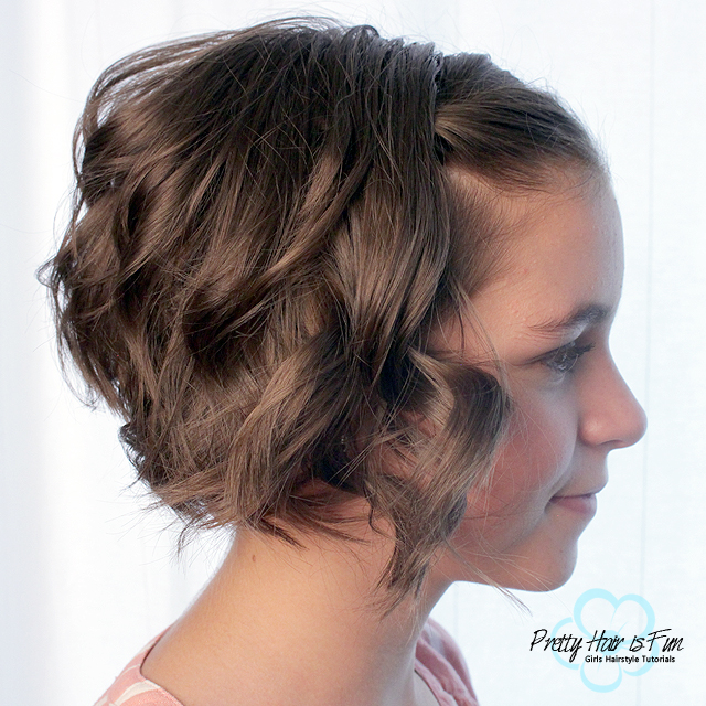 Pretty Hair is Fun: Short Hair: Quick Flat Iron Curls