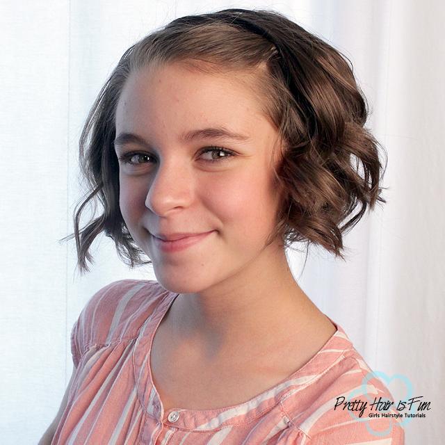 Pretty Hair is Fun: Short Hair: Quick Flat Iron Curls