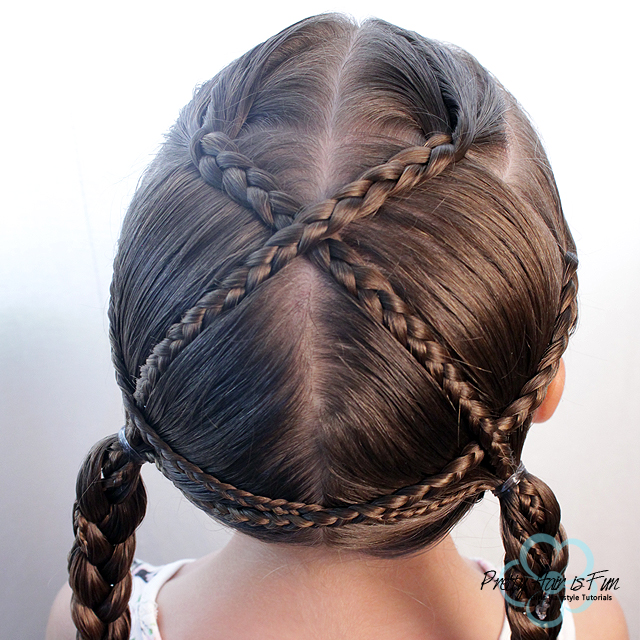 Pretty Hair is Fun: Criss Cross Braids