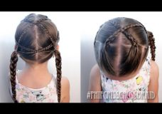 Pretty Hair is Fun: Criss Cross Braids for Little Girls