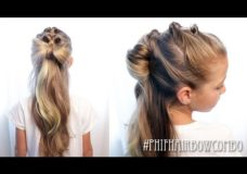 Pretty Hair is Fun: Pull Through Hair Bow Combo Braids