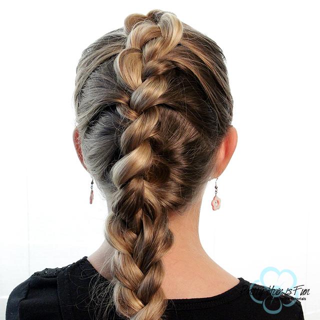 Pretty Hair is Fun: French Braid/Dutch Braid Combo