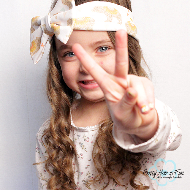 Pretty Hair is Fun: Easy Toddler Headband Hairstyle