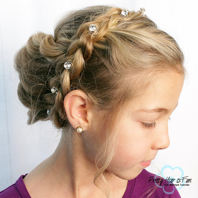 Pretty Hair is Fun: Easy Braid and Twist Updo