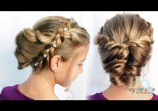 Pretty Hair is Fun: Easy Braid and Twist Updo