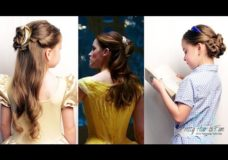 Pretty Hair is Fun: Belle {Emma Watson} Ballroom & Library Hairstyles from Beauty & the Beast