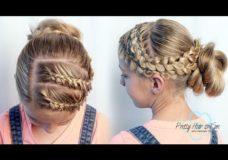 How to do a Dutch Lace Braids Updo | Pretty Hair is Fun