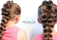 Pretty Hair is Fun: Pull Through Split Braid | Medium Beginner Hairstyle
