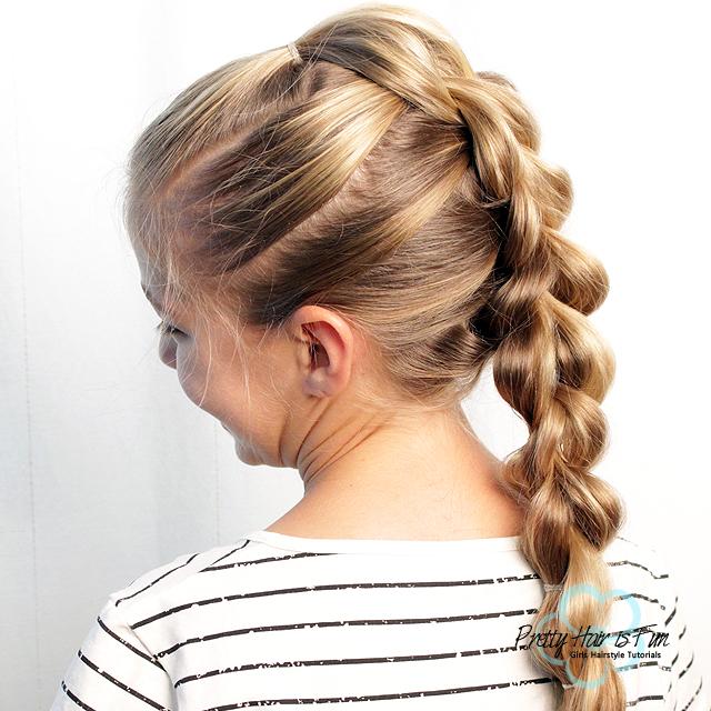Pretty Hair is Fun: 3D-Split Pull Through Braid