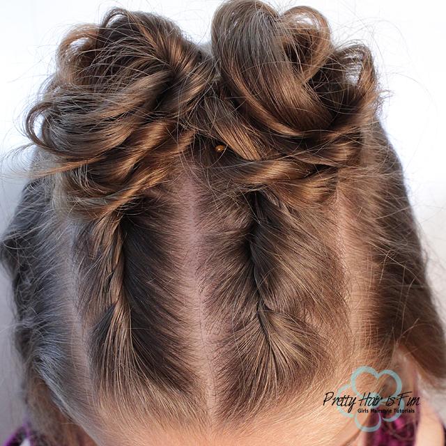 Princess Twist Top Knot Bun Hairstyles: Pretty Hair is Fun