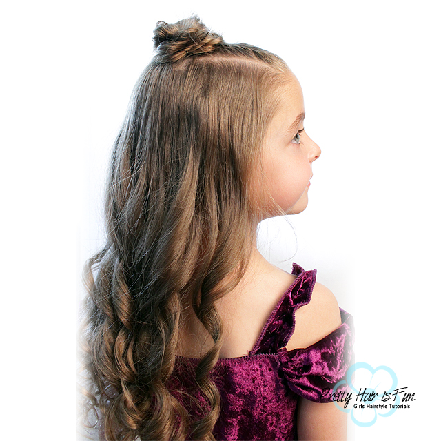 Princess Twist Top Knot Bun Hairstyle Half Up Prom Hairstyles