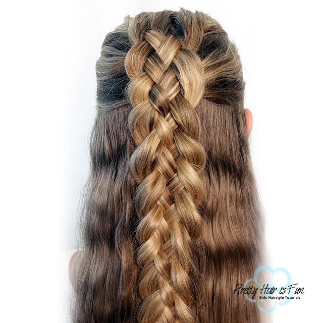 Dutch Five Strand Braid - PRETTY HAIR IS FUN