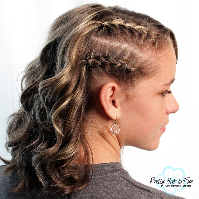 Short Hairstyles: Racer Stripes Side Braids: Pretty Hair is Fun
