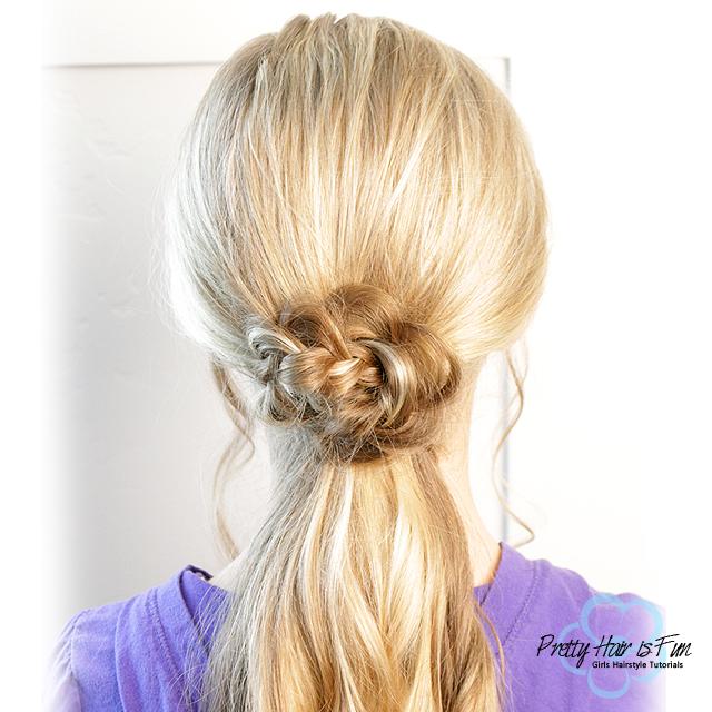 Braided Flower Ponytail: Pretty Hair is Fun