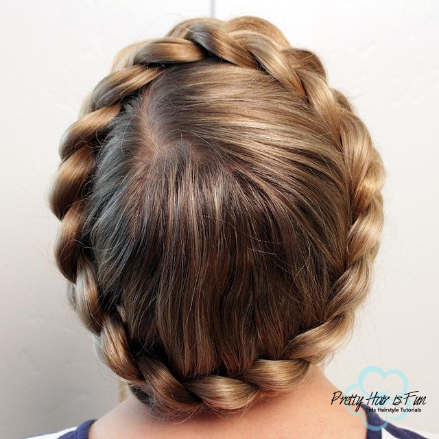 Easy Dutch Crown Braid--No bobby pins required! Pretty Hair is Fun