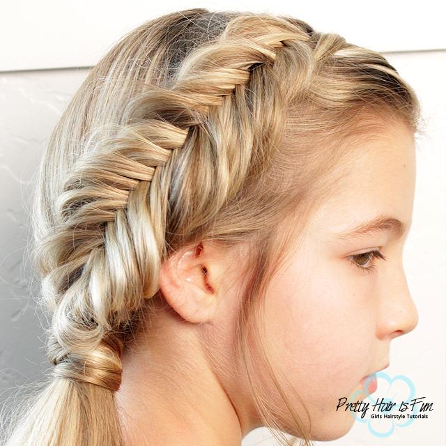 Dutch Fishtail Braid & Side Ponytail -- Pretty Hair is Fun