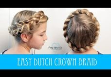 EASY DUTCH CROWN BRAID: No bobby pins required!