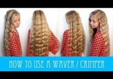 HOW TO USE A WAVER/ CRIMPER HAIR TUTORIAL! Pretty Hair is Fun