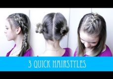 3 QUICK & EASY BACK TO SCHOOL HAIRSTYLES! Pretty Hair is Fun