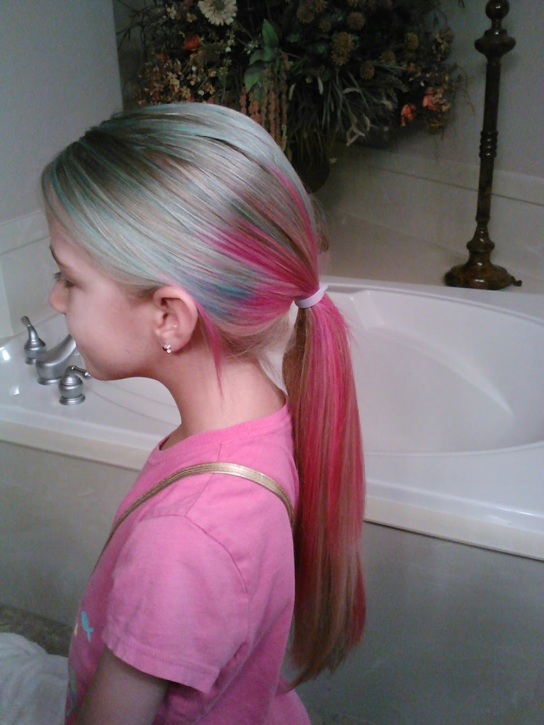 Little Girl's Hairstyles: How to Dye Multi Colored Hair Video