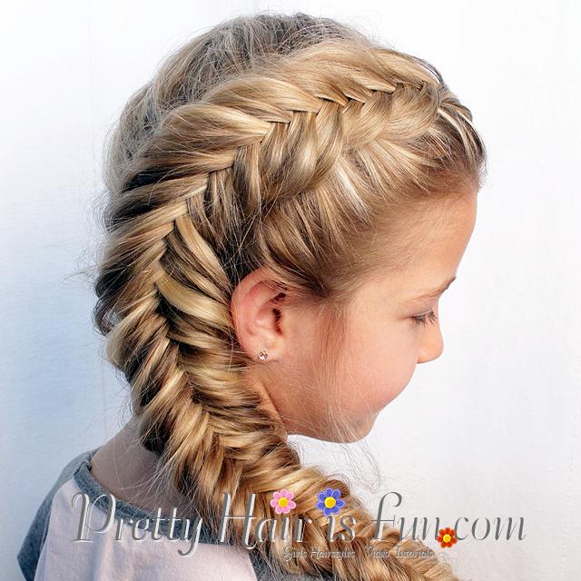 Fishtail Braid Hairstyles: Pretty Hair Is Fun: Side Dutch Fishtail Braid