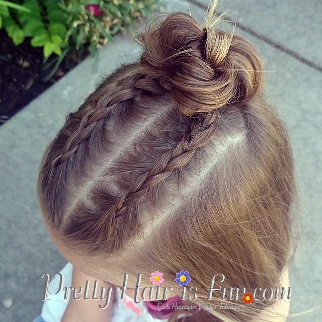 Pretty Hair Is Fun Dutch Braid Top Knot Bun Pretty Hair